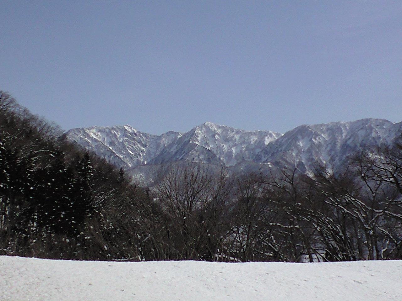 雪山の、snow smile.